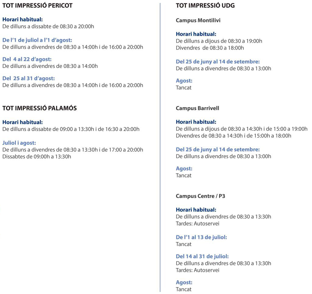 horaris botiga web